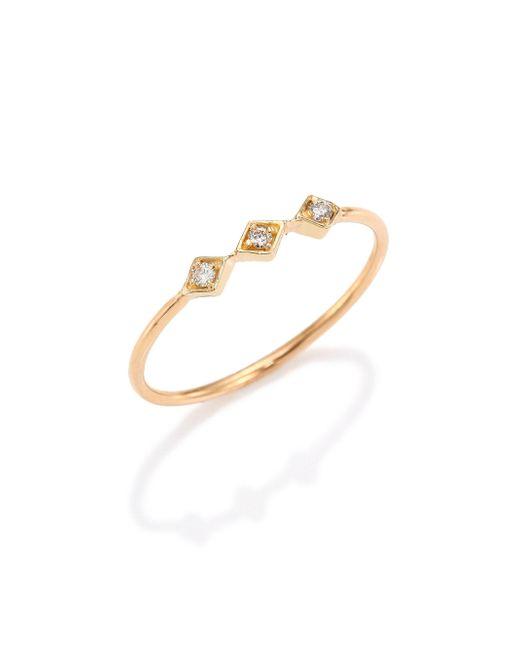 Zoe Chicco - Gray Diamond & 14k Yellow Gold Ring - Lyst