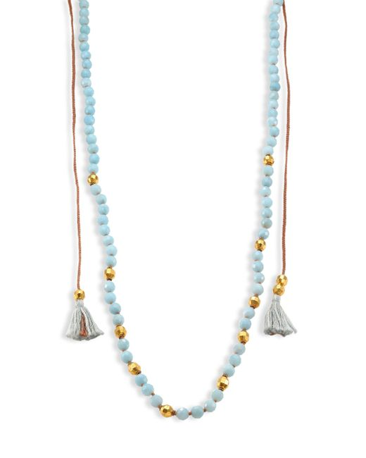 Chan Luu - Blue Tasseled Amazonite Long Necklace - Lyst