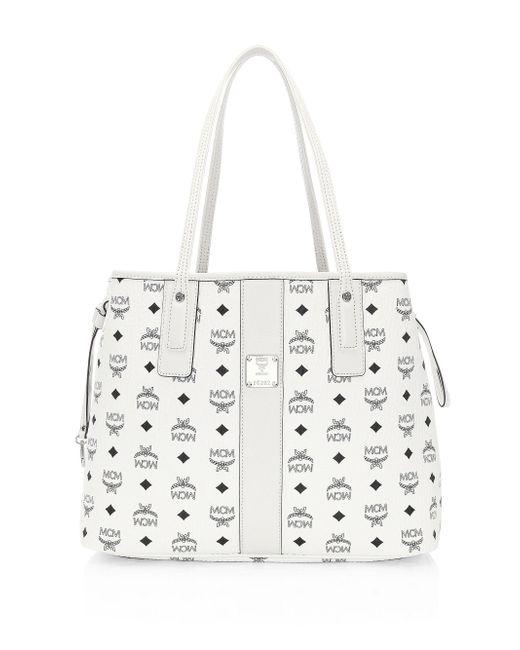 MCM - White Medium Liz Reverisble Leather Shopper - Lyst