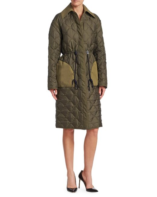 Altuzarra - Green Creedence Reversible Quilted Coat - Lyst