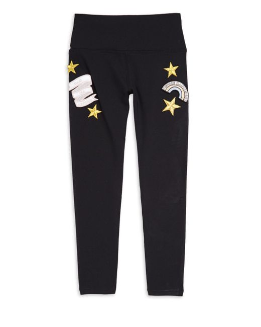 Spiritual Gangster - Black Girl's Party Patch Leggings - Lyst