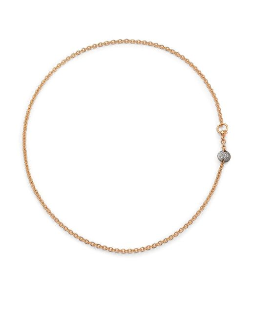Pomellato - Pink Sabbia Diamond & 18k Rose Gold Necklace - Lyst