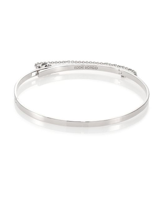 Eddie Borgo   Metallic Thin Safety Chain Choker Necklace   Lyst