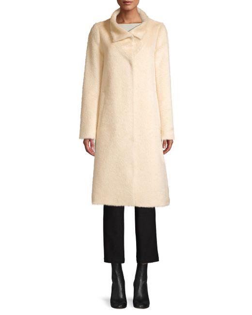 Eileen Fisher - Natural High Collar Coat - Lyst
