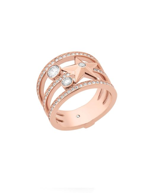 Michael Kors - Pink Celestial Crystal Star Ring - Lyst