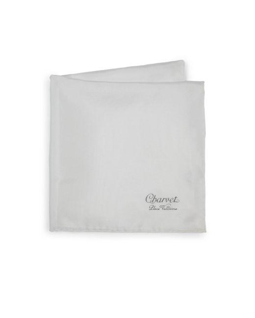 Charvet - Men's Solid Silk Pocket Square - White for Men - Lyst