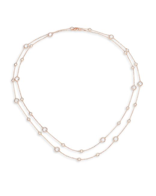 Adriana Orsini | Metallic Rose Double-strand Necklace | Lyst