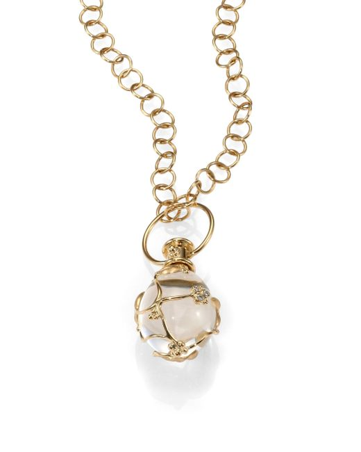 Temple St. Clair - Metallic Tree Of Life Rock Crystal, Diamond & 18k Yellow Gold Medium Vine Amulet - Lyst