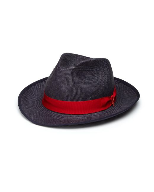 Barbisio | Blue Panama Straw Hat for Men | Lyst