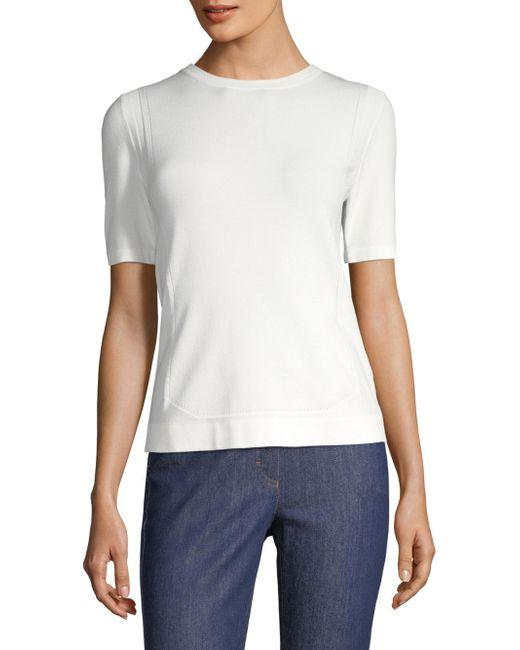 ESCADA - White Setnar Short-sleeve Top - Lyst