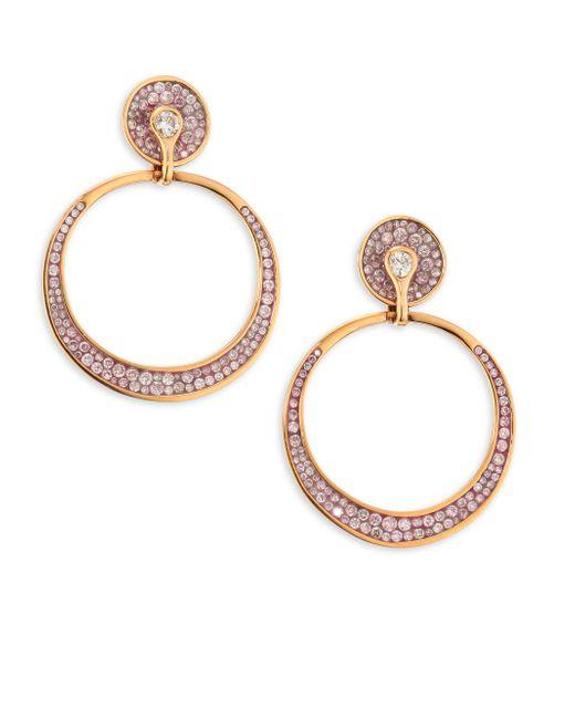 Plevé - Metallic Opus Pink Diamond & 18k Rose Gold Hoop Earrings - Lyst