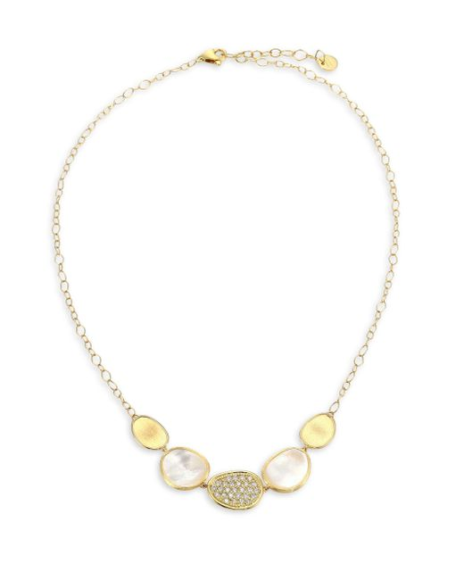 Marco Bicego - Metallic Mother-of-pearl & 18k Yellow Gold Lunaria Necklace - Lyst