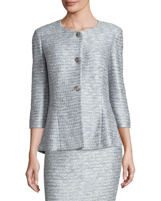 St. John - Multicolor Wool Knit Jacket - Lyst