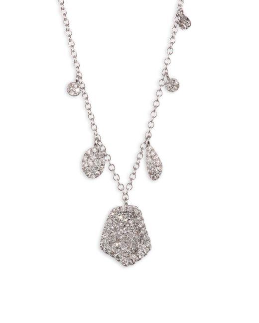Meira T - Metallic Paved Diamond & 14k White Gold Necklace - Lyst
