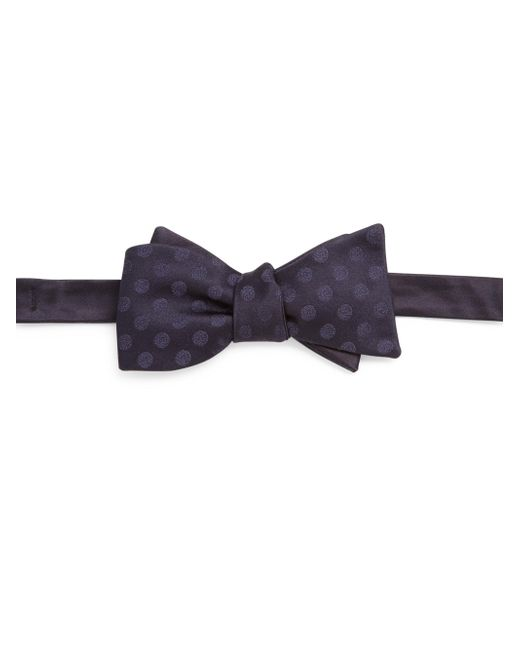 Saks Fifth Avenue | Blue Dot Patterned Silk Bow Tie for Men | Lyst