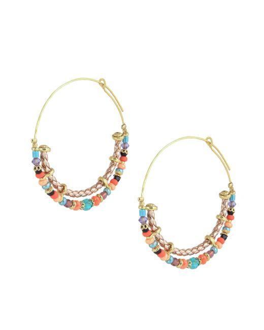 Gas Bijoux - Metallic 24k Goldplated Beaded Hoop Earrings - Lyst