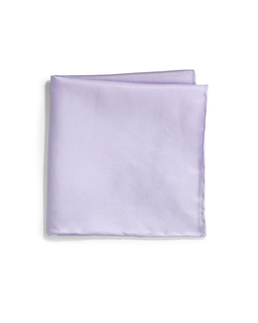 Saks Fifth Avenue - Purple Silk Solid Pocket Square for Men - Lyst