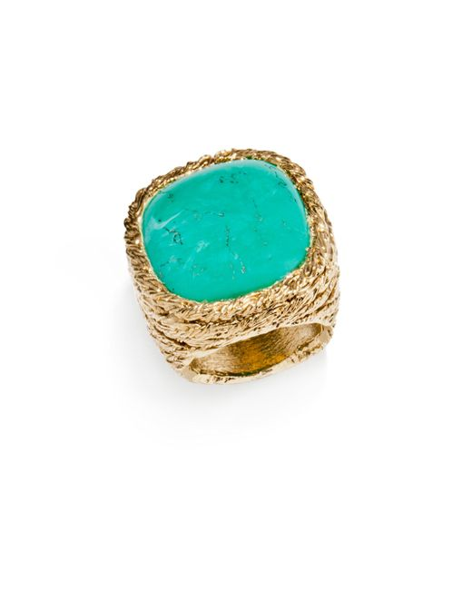 Aurelie Bidermann - Blue Miki Turquoise Cocktail Ring - Lyst