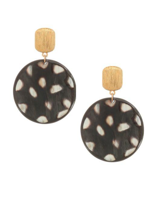 Nest - Metallic 24k Goldplated Spotted Horn Disc Earrings - Lyst