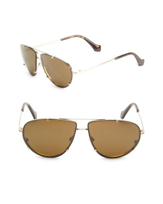 Balenciaga | Metallic 62mm Aviator Sunglasses | Lyst