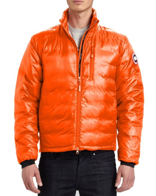 Canada Goose | Orange Lodge Down Jacket for Men | Lyst