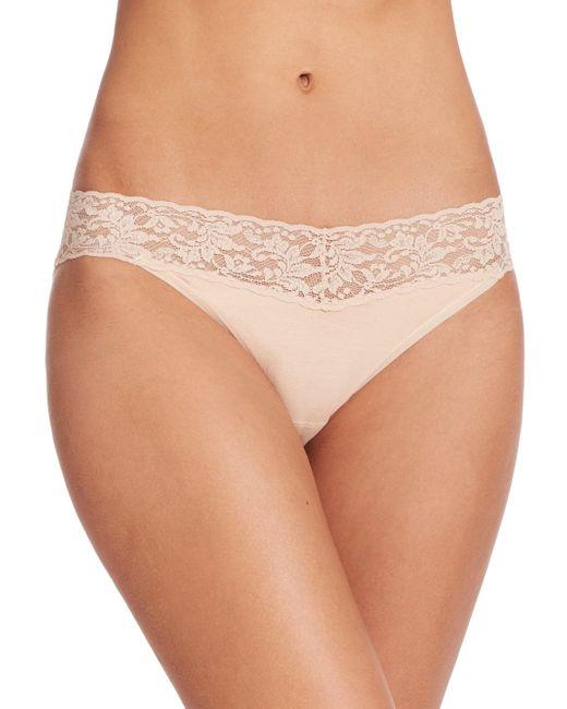 Hanky Panky - Natural Cotton V-kini Bikini Briefs - Lyst