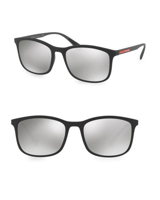 Prada - Black Linea Rossa 56mm Tinted Sunglasses for Men - Lyst