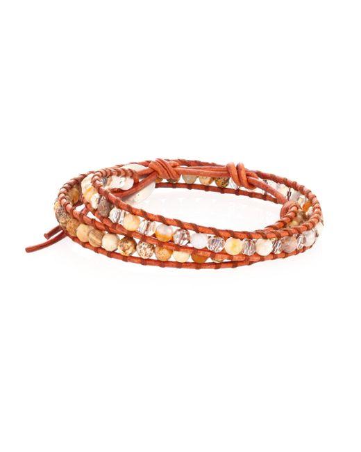 Chan Luu - Gray African Opal Mix Double-wrap Bracelet - Lyst