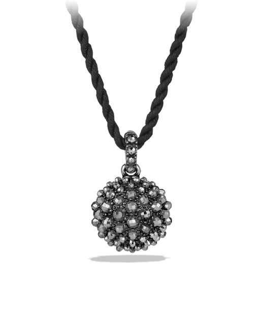 David Yurman - Black Osetra Pendant Necklace With Faceted Hematite - Lyst