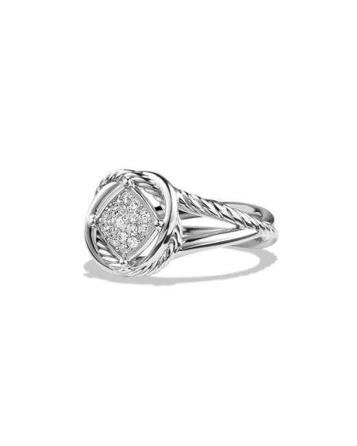 David Yurman - Metallic Infinity Ring With Diamonds - Lyst