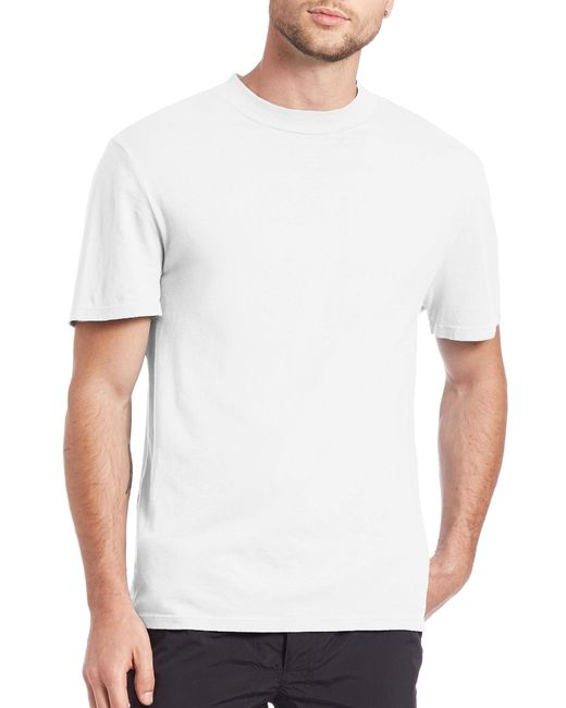 T By Alexander Wang | White Solid Crewneck Cotton Tee for Men | Lyst