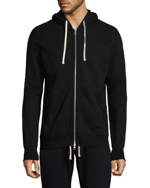 Reigning Champ - Men's Hooded Zip-front Jacket - Black - Size Xl for Men - Lyst