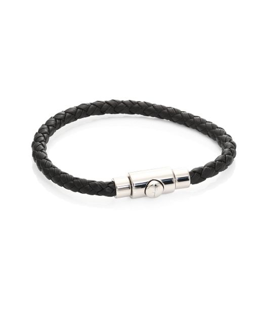 Ferragamo - Brown Men's Braided Leather Bracelet - Lyst