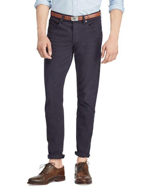 Polo Ralph Lauren - Blue Slim Fit Stretch Pants for Men - Lyst