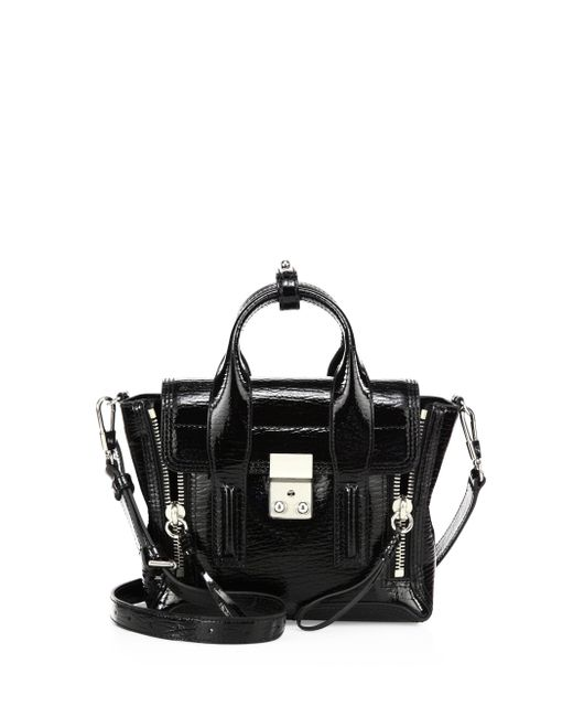 3.1 Phillip Lim - Black Pashli Mini Patent Leather Satchel - Lyst