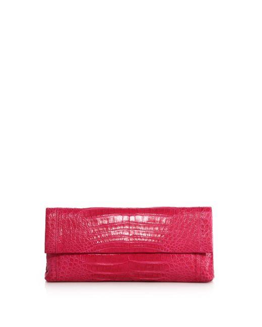 Nancy Gonzalez   Pink Gotham Crocodile Clutch   Lyst