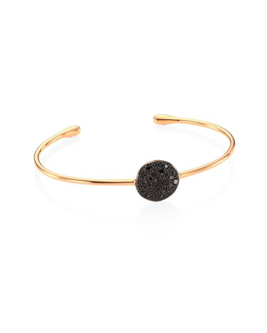 Pomellato - Metallic Sabbia Black Diamond & 18k Rose Gold Cuff Bracelet - Lyst
