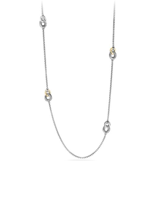 David Yurman - Metallic Belmont Curb Link Four Station Necklace With Gold - Lyst