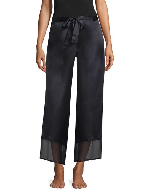 Natori - Black Silk Chiffon Pants - Lyst
