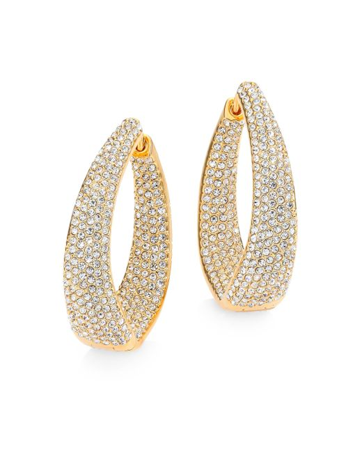 Adriana Orsini - Metallic Crystal Pave Twist Hoop Earrings/1.25 - Lyst