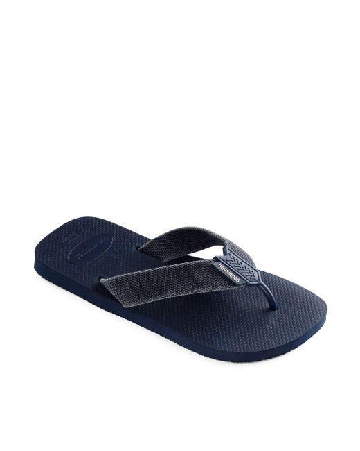 bf774eca263e Havaianas - Blue Men s Urban Basic Grosgrain Strap Flip Flops - Khaki -  Size 45-