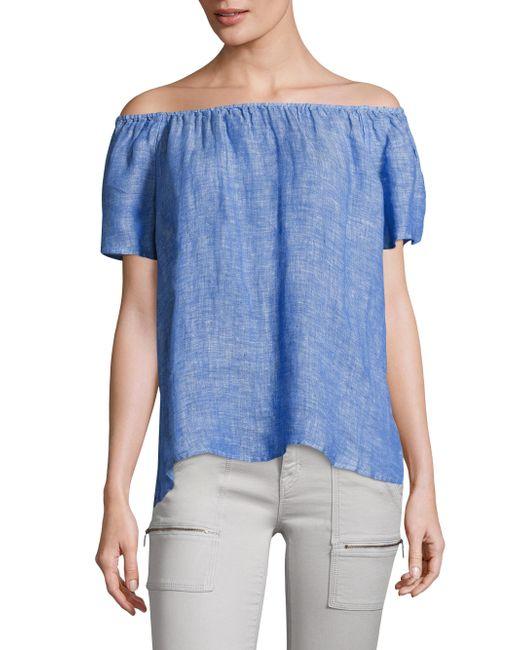 Joie | Blue Amesti Linen Off-the-shoulder Top | Lyst