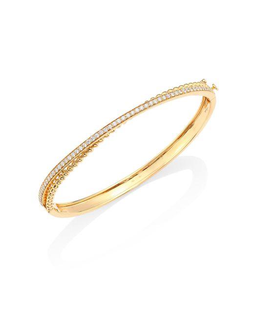 Hueb - Metallic Bubbles Diamond & 18k Yellow Gold Bangle Bracelet - Lyst