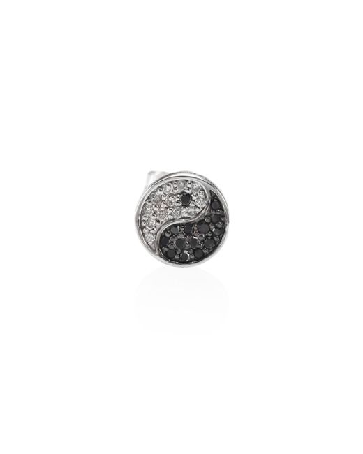 Sydney Evan | Yin-yang Black & White Diamond Single Stud Earring | Lyst