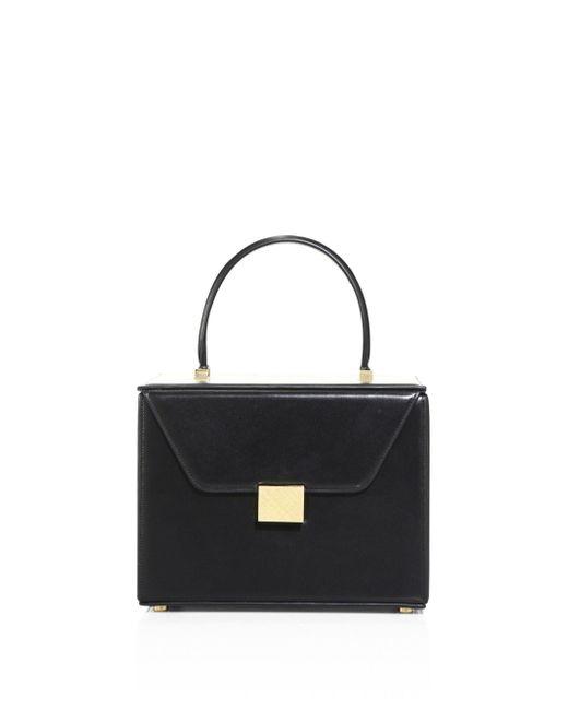 Victoria Beckham - Black Vanity Leather Mini Bag - Lyst