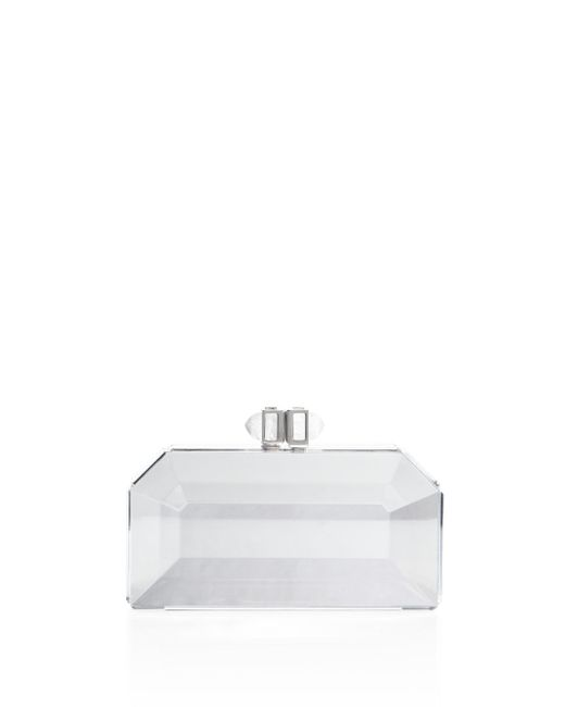 Judith Leiber - White Faceted Box Clutch - Lyst