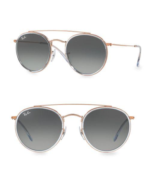 Ray-Ban | Gray Iconic Round Aviator Sunglasses | Lyst
