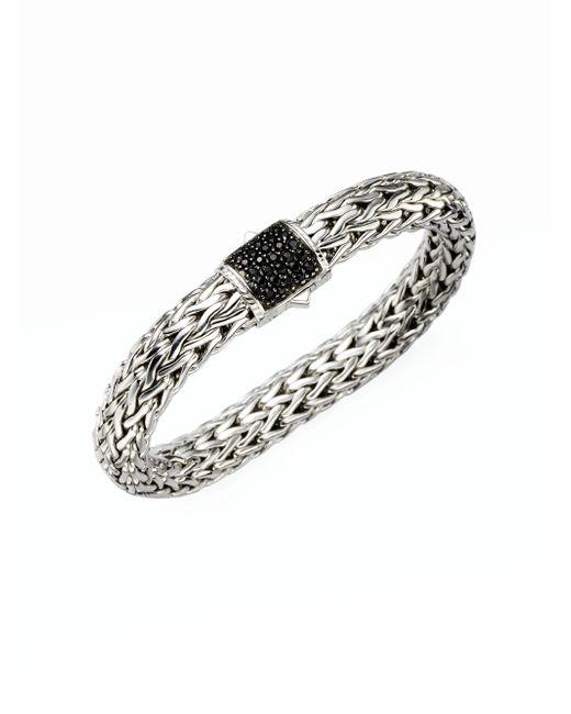 John Hardy - Metallic Classic Chain Black Sapphire & Sterling Silver Large Bracelet - Lyst