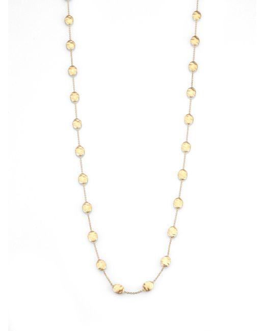 Marco Bicego - Metallic Siviglia 18k Yellow Gold Station Necklace - Lyst