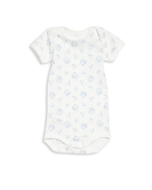 Petit Bateau | White Baby's Animal Print Bodysuit | Lyst